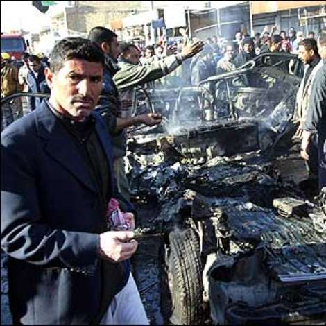But just a few hours after the execution, Iraq's insurgents struck again - at least 30 people died in a bomb attack in Kufa.