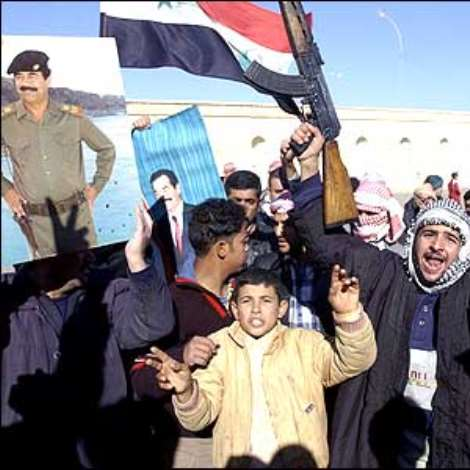 However, in Saddam Hussein's hometown of Tikrit, steadfast Saddam Hussein supporters protested against his death.