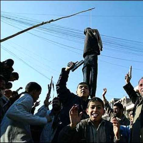 The news that Saddam Hussein had been hanged was greeted with delight on the streets of Sadr City, a Shia stronghold in Baghdad.
