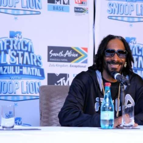 SNOOP LION ARRIVES DURBAN, SOUTH AFRICA FOR THE MTV ALL STARS CONCERT.