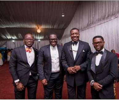 Alibaba And Lafup, With Bisi Ogunwale & Jide Adeyemi Of Jci Nigeria At The 60th Anniversary Toyp Gala