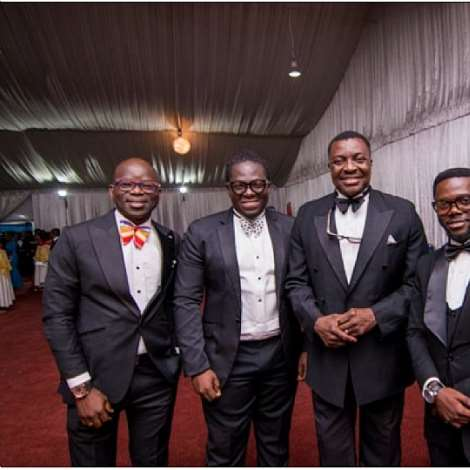 Alibaba And Lafup, With Bisi Ogunwale & Jide Adeyemi Of Jci Nigeria At The 60th Anniversary Toyp Gala