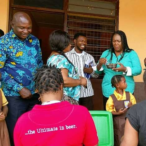Hon. Tina Naa Ayeley Mensah Visits Schools To Observe School Feeding