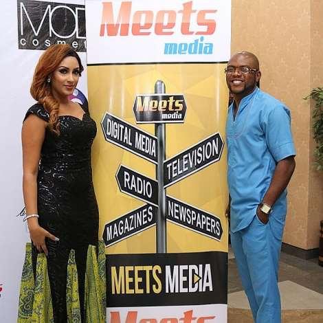 The Convener, Bob Alash With Juliet Ibrahim At Meets Media