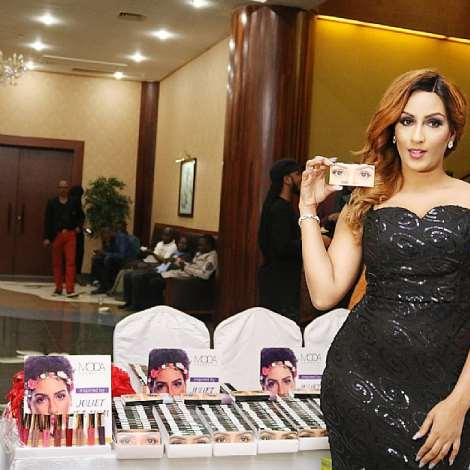 Juliet Ibrahim Meets Media Launched Moda Lipsticks