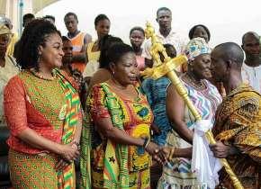 Hon. Otiko Afisah Djaba Call On Nene Agblezee Of Plau To Brief Him On Her Mission In Somanya.