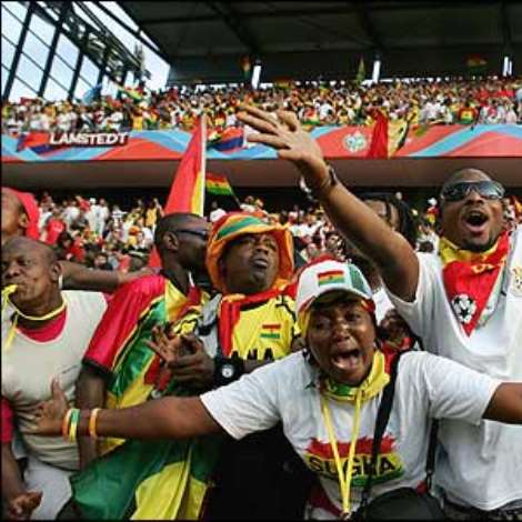 There are ecstatic scenes at the final whistle, as Ghana's first ever World Cup win throws Group E wide open