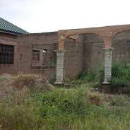 New unroofed 2 bedroom  house at Amasaman