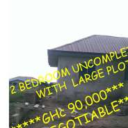 2 Bedroom Uncompleted House with Large Land