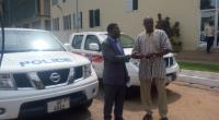 COP Prosper Agblor receiving the keys to the vehicles