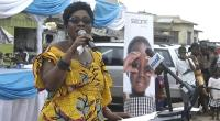 Ms. Esther Cobbah At The Launch Of The Two Projects In Komenda