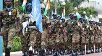 United Nations peacekeepers parade in Abidjan, on August 7, 2015.  By Issouf Sanogo (AFP/File)