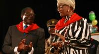 Grace Mugabe (R) was taken to court by Jamal Ahmed after she took over three of his properties.  By Jekesai Njikizana (AFP/File)