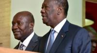 Outgoing Ivorian Prime Minister Daniel Kablan Duncan (L) walks with Ivorian president Alassane Ouattara (R), following his resignation at the presidential palace in Abidjan, following his resignation on January 9, 2017.  By ISSOUF SANOGO (AFP)