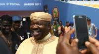 President of Gabon, Ali Bongo Ondimba, visits the Stade de l'Amitie Sino-gabonaise Stadium in Libreville on January 13, 2017, on the eve of the opening game of the 2017 Africa Cup of Nations, Gabon vs Guinea Bissau.  By GABRIEL BOUYS (AFP)