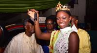 Crowned Ghana's Most Beautiful, Esi Displaying The Keys To Her Brand New Car Prize