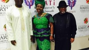 L-R: Omar Sheikh Faye, The honorable Gambian Ambassador to the United States of America, Ambassador Dr. Margaret Dureke, Founder and President of WETATi USA, WETATi International and Goodwill Ambassador to The Gambia and the Honorable Lieutenant General J