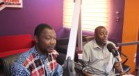 Nii Armah Akomfrah (right) and Bernard Mornah of the PNC in the studio of Starr FM