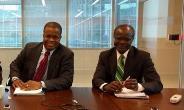 From left Nana Kweku Nduom and his father Dr Papa kwesi Nduom