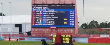 Solomon placed third in heat one of the men's 400m event and eighth overall to progress to the final.