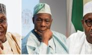 Atiku Abubakar of the PDP, Olusegun Obasanjo and Muhammadu Buhari of the APC