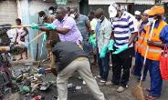 An environmental cleaning in Accra, photo credit: Ghanaian media