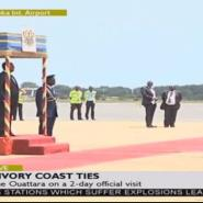 President Ouattara Arrives In Accra
