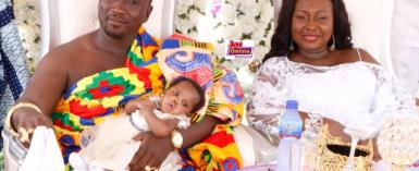 photos: gifty anti''s baby receives 500 tullow oil shares as gift