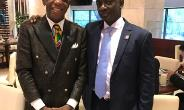 Dr. Thomas Mensah Meets His Excellency Edward Boateng Ghana's Ambassador To China