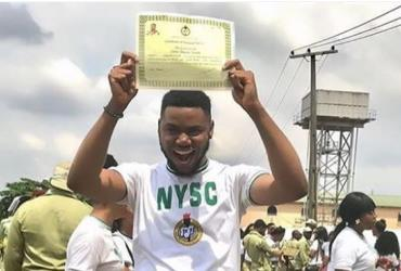 Actor, Adinma Somadina Bows out from NYSC, Now a Graduate