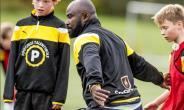 Former Black Star Player Razak Pimpong Training Young Footballers In Denmark