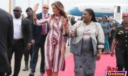 Mrs Trump was met at the airport by Ghana's first lady