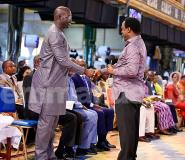 George Weah Visits Prophet TB Joshua Ahead Of Liberia Presidential Election Runoff