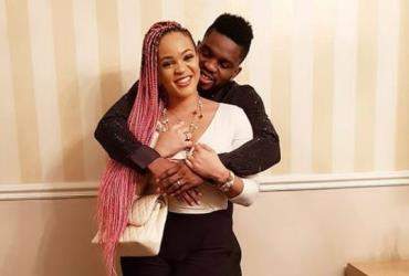 Adaeze Yobo with Hubby in loved up Photo