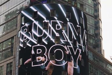 BURNA BOY LIGHTS UP TIMES SQUARE AS YOUTUBE'S ARTISTE OF THE MONTH