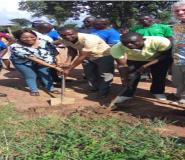 Tain DCE Cut Sod For Construction Of 6 Unit Classroom Block
