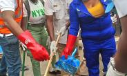 Photos as Actress, Dayo Amusa Others Clean up Lagos