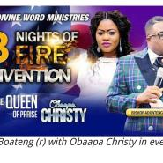 Gospel musician Obaapa Christy Joined Bishop Adonteng Boateng For Virginia C