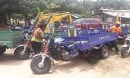 Akyem Asuom: Serendipalm Foundation donates 15 motorised Tricycle To Farmer Associations