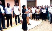 Mrs Mary Owusu-Akyiaw (in black cloth)
