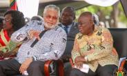 Former Ghanaian leader, John Jerry Rawlings, and current president, Nana Akufo Addo. Photo credit: Ghana media