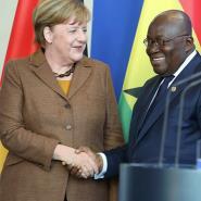 German Chancellor Angela Merkel and Ghana President Akufo Addo