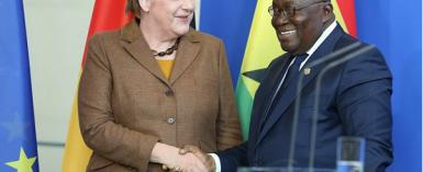 German Chancellor Angela Merkel and Ghana President Akufo Addo