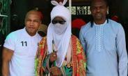 African Legends; Kanu Nwankwo, El-Hadji Diouf Visits Emir of Kano