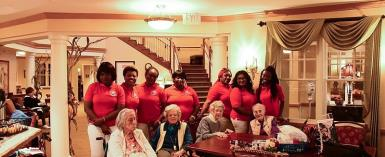 NPP-USA Patriotic Ladies Club Supports A Nursing Home In The US