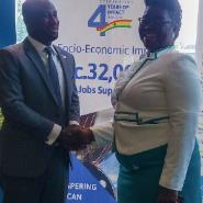Clarence Nortey, Country Director of IIA and Mrs Grace Anim-Yeboah, Director of Business Banking of Barclays Ghana