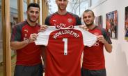 Sead Kolasinac, Per Mertesacker and  Jack Wilshere