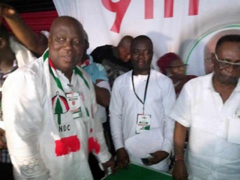 Ade Coker (L) was retained as Greater Accra Regional Chairman of NDC in recent poll
