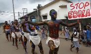 Demonstration against Ebola in Africa