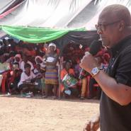 Former President John Dramani Mahama in the Ashanti Region last week